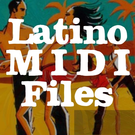 sarandonga guira latina midi file backing track karaoke