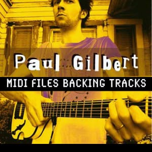 Paul Gilbert MIDI files backing tracks karaoke MIDIs