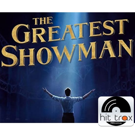 tightrope the greatest showman soundtrack midi file backing track karaoke