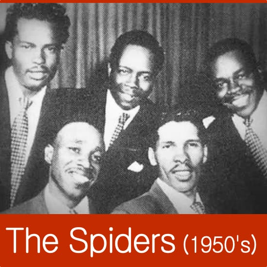The Spiders (1950's Lineup) MIDI files backing tracks